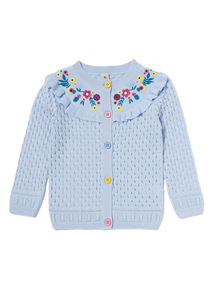Blue Embroidered Cardigan (9 months-6years)