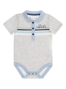 Grey Stripe Bodysuit (0 - 24 months)