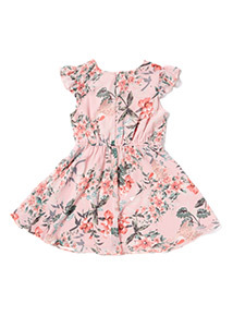 Pink Floral Dress (3-14 years)