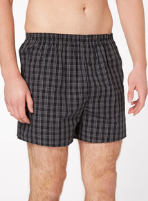 Multicoloured Grid & Check Boxers 3 Pack