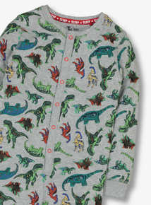 Multicoloured Jersey Dinosaur Print All In One (1.5 - 12 years)