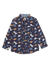 Navy Dino Print Shirt (9 months-6 years)