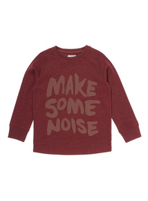 Red Make Some Noise Long Sleeve Top (9 months-5 years)
