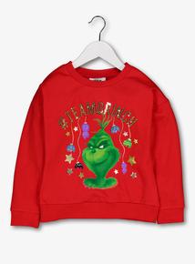 The Grinch Red Sweatshirt (3-14 years)
