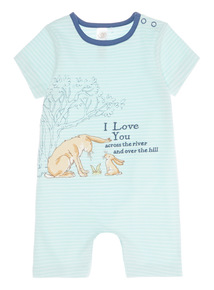 Blue Guess How Much I Love You Romper (0 - 24 months)