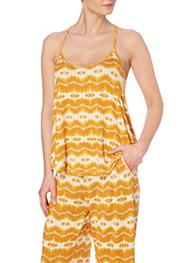 Yellow Ikat Cami Pyjama Top