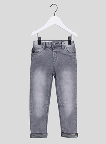 Grey Denim Skinny Fit Jeans (9 Months- 6 Years)