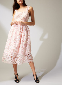 Online Exclusive Premium Pink Lace Dress
