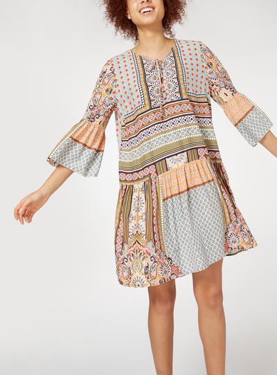 Tile Print Dress