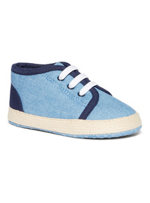 Blue Chambray Trainer (0-18 months)
