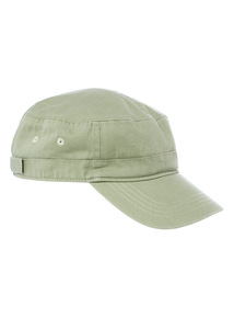 Washed Green Captain Hat