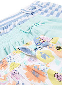 3 Pack Multicoloured Sunshine and Smiles Shorts (9 months-6 years)