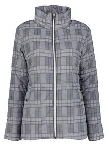 Grey Check Print Padded Jacket