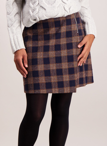 Multicoloured Check A-Line Mini Skirt