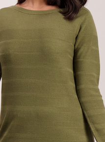 Khaki Green Tunic Top