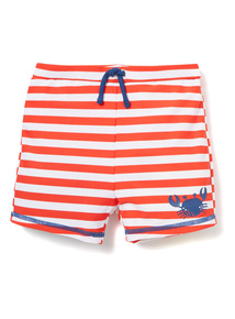 Red and White Striped Crab Print Trunks (0-36 months)