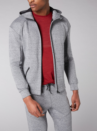 Admiral Grey Zip Through Hoodie