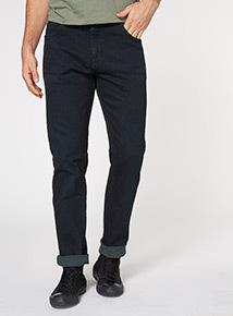 Indigo Denim Wash Tapered Jeans