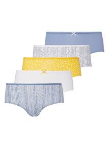 Microfibre Pattern Shorts 5 Pack