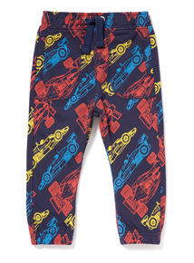 Navy Race Car Printed Joggers (9 months-6 years)