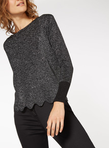 Scalloped Hem Jumper