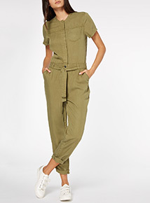 Utility Wide Leg Jumpsuit