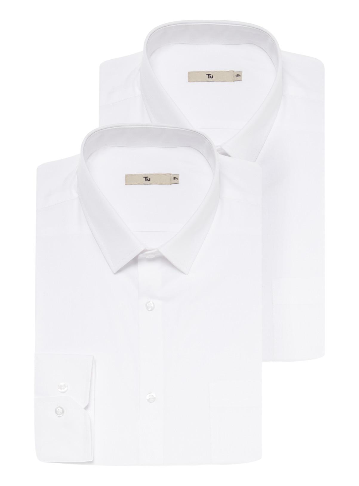T shirt slim fit white - White Slim Fit Shirts 2 Pack