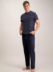 Navy Stripe T-Shirt Pyjamas