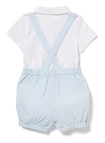Blue and White Bibshort Set (0-12 months)