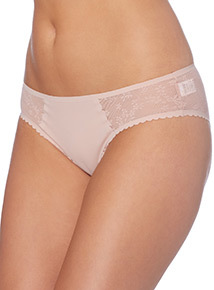 Grey Geo Mesh Brazilian Briefs