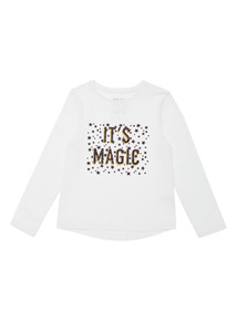 Cream Halloween It's Magic Tee (9 months-4 years)