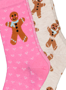 Christmas Gingerbread Socks 2 Pack