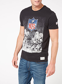 Black NFL Photo Shield Tee