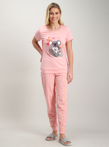 Pink Mother s Day Koala Print Pyjamas c268d1563