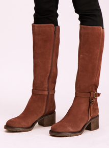 Sole Comfort Tan Suede Knee-High Boots