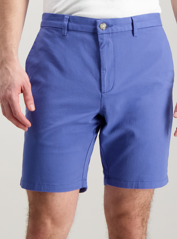 146a06a4695 Menswear Periwinkle Blue Chino Shorts with Stretch