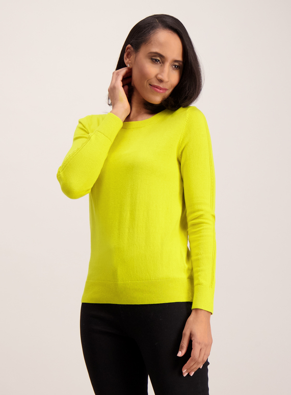 Womens Lime Green Crew Neck Jumper Tu Clothing