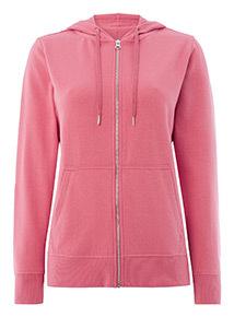 Pink Zip Through Hoody
