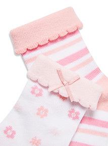 4 Pack Pink Socks (1-24 months)