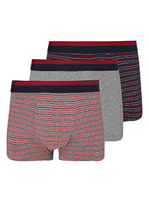 3 Pack Multicoloured Stripe Hipster Briefs