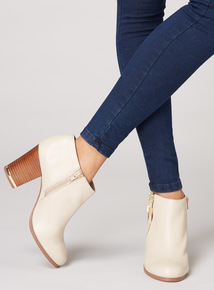 Premium Leather Zipped Ankle Boots