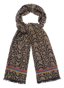Retro Animal Print Scarf