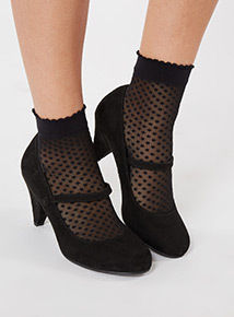Sole Comfort Black Mary Jane Shoes