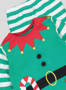 Christmas Elf Pyjama Set (Newborn - 24 Months)