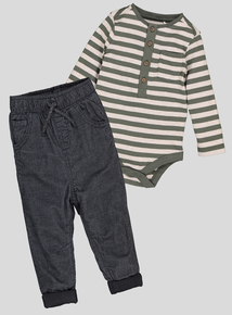 Multicoloured Bodysuit & Trousers Set (0-24 months)