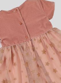 Pink Velvet & Tulle Dress (0-24 Months)