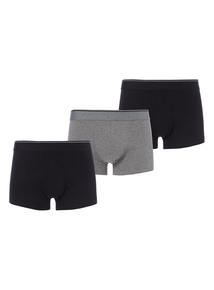 Black Plain Hipsters 3 Pack (Now available in sizes XS to XXXL)