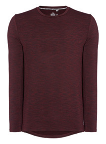 Admiral Burgundy Space Dye Long Sleeve T-shirt