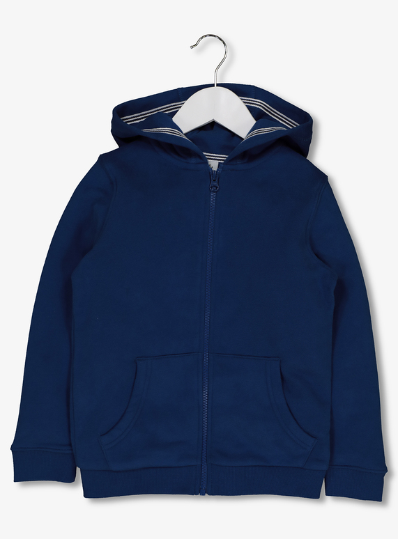 bdbab8ce0d4 Kids Blue Zip Through Hoody (3-14 years)