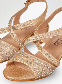 993c57b3d0d Online Exclusive Gold Open Toe Heeled Shoes (10 Infant - 2)